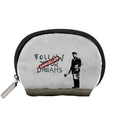 Banksy Graffiti Original Quote Follow Your Dreams Cancelled Cynical With Painter Accessory Pouch (small) by snek
