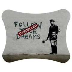 Banksy Graffiti Original Quote Follow Your Dreams Cancelled Cynical With Painter Jigsaw Puzzle Photo Stand (bow) by snek