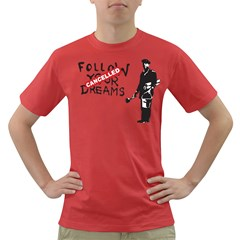 Banksy Graffiti Original Quote Follow Your Dreams Cancelled Cynical With Painter Dark T-shirt by snek