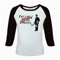 Banksy Graffiti Original Quote Follow Your Dreams Cancelled Cynical With Painter Kids Baseball Jerseys by snek