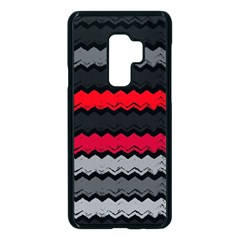 Chevrons Rose/gris Samsung Galaxy S9 Plus Seamless Case(black)