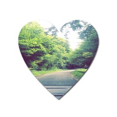 Photo Vue Sur Forêt  Heart Magnet by kcreatif