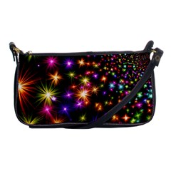 Star Colorful Christmas Abstract Shoulder Clutch Bag by Jojostore