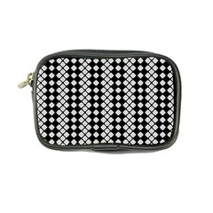 White Plaid Texture Coin Purse