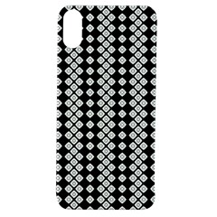 White Plaid Texture Apple Iphone Xs Tpu Uv Case