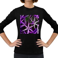 Neurons Brain Cells Imitation Women s Long Sleeve Dark T-shirt by HermanTelo