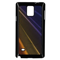Rainbow Waves Mesh Colorful 3d Samsung Galaxy Note 4 Case (black)