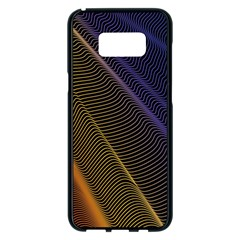 Rainbow Waves Mesh Colorful 3d Samsung Galaxy S8 Plus Black Seamless Case
