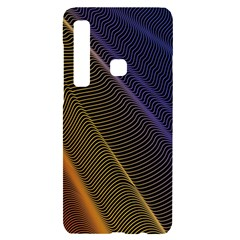 Rainbow Waves Mesh Colorful 3d Samsung A9 Black Uv Print Case by HermanTelo
