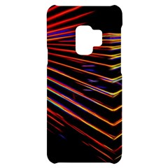 Abstract Neon Background Light Samsung S9 Black Uv Print Case