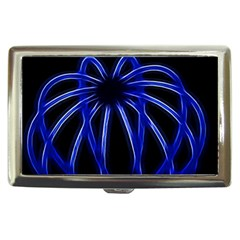 Light Effect Blue Bright Design Cigarette Money Case