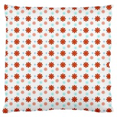 Background Flowers Multicolor Large Flano Cushion Case (one Side) by HermanTelo