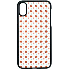 Background Flowers Multicolor Iphone X Seamless Case (black)