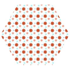 Background Flowers Multicolor Wooden Puzzle Hexagon by HermanTelo