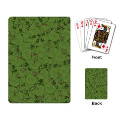 Groyper Pepe The Frog Original Meme Funny Kekistan Green Pattern Playing Cards Single Design (rectangle) by snek