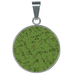 Groyper Pepe The Frog Original Meme Funny Kekistan Green Pattern 25mm Round Necklace by snek