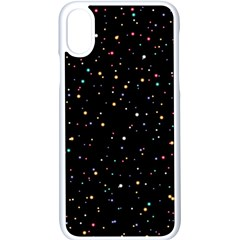 Abstract Colorful Glitters Background Vector Iphone Xs Seamless Case (white)