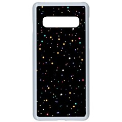 Abstract Colorful Glitters Background Vector Samsung Galaxy S10 Seamless Case(white)