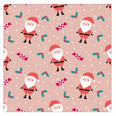 Cute Christmas Santa Seamless Pattern Large Satin Scarf (square)