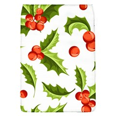 Christmas Holly Berry Seamless Pattern Removable Flap Cover (l)