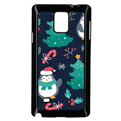 Colorful Funny Christmas Pattern Samsung Galaxy Note 4 Case (black) by Vaneshart