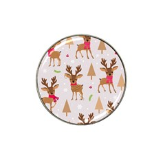 Christmas Seamless Pattern With Reindeer Hat Clip Ball Marker (10 Pack) by Vaneshart