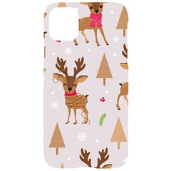 Christmas Seamless Pattern With Reindeer Iphone 11 Black Uv Print Case