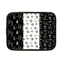Black Golden Christmas Pattern Collection Netbook Case (small)