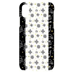 Black Golden Christmas Pattern Collection Iphone X/xs Black Uv Print Case by Vaneshart