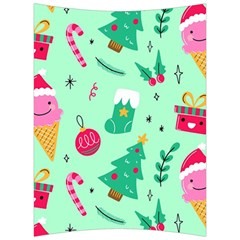 Funny Christmas Pattern Background Back Support Cushion