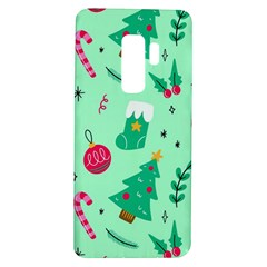Funny Christmas Pattern Background Samsung Galaxy S9 Plus Tpu Uv Case by Vaneshart