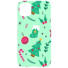 Funny Christmas Pattern Background Iphone 11 Black Uv Print Case by Vaneshart
