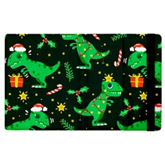 Christmas Funny Pattern Dinosaurs Apple Ipad Pro 12 9   Flip Case by Vaneshart