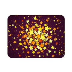 Colorful Confetti Stars Paper Particles Scattering Randomly Dark Background With Explosion Golden St Double Sided Flano Blanket (mini)