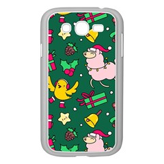 Funny Decoration Christmas Pattern Background Samsung Galaxy Grand Duos I9082 Case (white)