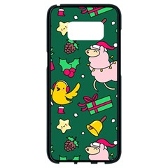 Funny Decoration Christmas Pattern Background Samsung Galaxy S8 Black Seamless Case