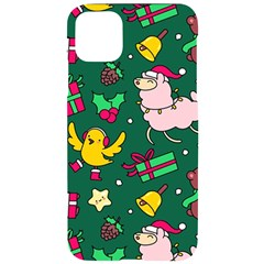 Funny Decoration Christmas Pattern Background Iphone 11 Pro Max Black Uv Print Case