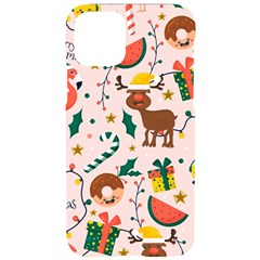 Colorful Funny Christmas Pattern Merry Xmas Iphone 11 Pro Black Uv Print Case