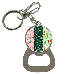 Hand Drawn Christmas Pattern Collection Bottle Opener Key Chain by Vaneshart