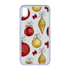 Vintage Christmas Pattern Background Iphone Xr Seamless Case (white) by Vaneshart