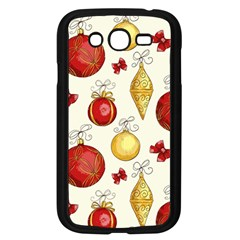 Vintage Christmas Pattern Background Samsung Galaxy Grand Duos I9082 Case (black)