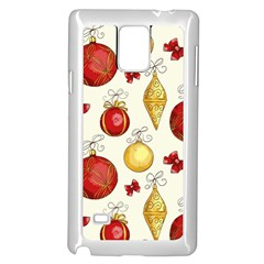 Vintage Christmas Pattern Background Samsung Galaxy Note 4 Case (white)
