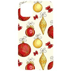 Vintage Christmas Pattern Background Iphone 11 Black Uv Print Case