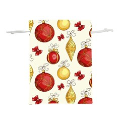 Vintage Christmas Pattern Background Lightweight Drawstring Pouch (m)