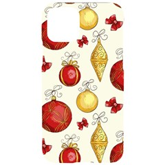 Vintage Christmas Pattern Background Iphone 11 Pro Black Uv Print Case