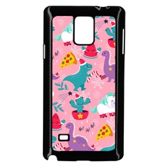 Colorful Funny Christmas Pattern Ho Ho Ho Samsung Galaxy Note 4 Case (black)