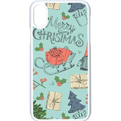 Vintage Christmas Pattern Iphone Xs Seamless Case (white) by Vaneshart