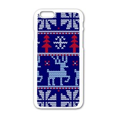 Knitted Christmas Pattern Iphone 6/6s White Enamel Case