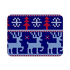 Knitted Christmas Pattern Double Sided Flano Blanket (mini)