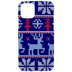 Knitted Christmas Pattern Iphone 11 Pro Black Uv Print Case